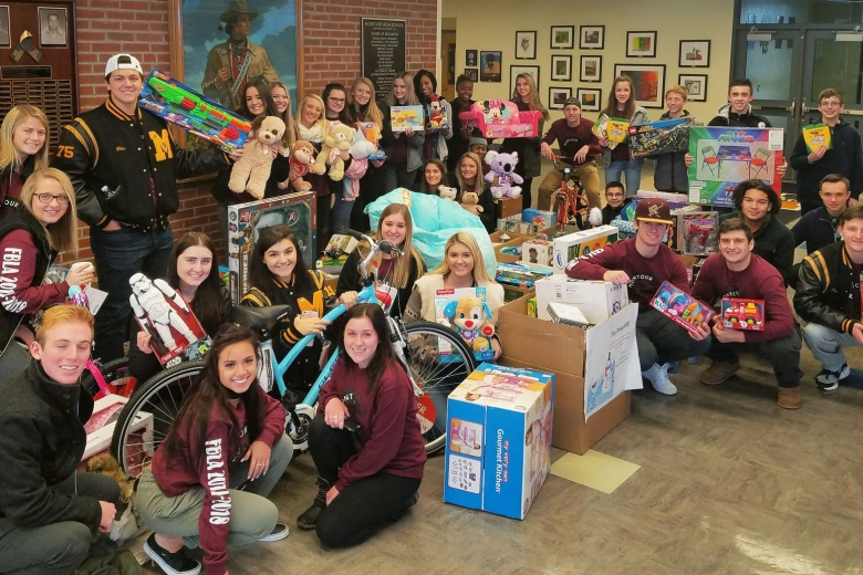 FBLA Toy Drive Group Photo