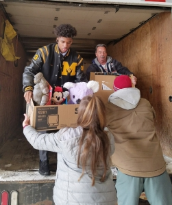 FBLA Loading Truck for Toy Drive